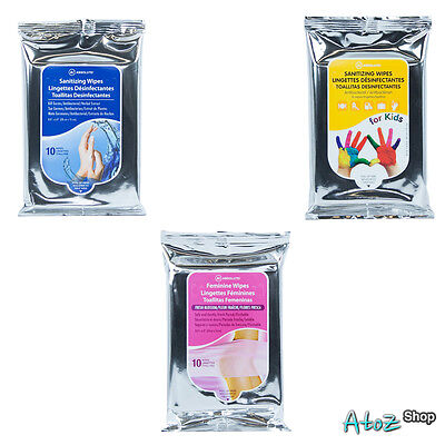 NICKA K A! Absolute Sanitizing Wipes - 10 Wipes