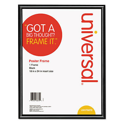 Universal Glossy Black Poster Frame 18 x 24 76870