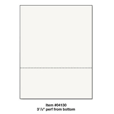 "Printworks™ Professional Office Paper Perforated 3 1/2"" Horizontal from Bottom 8"