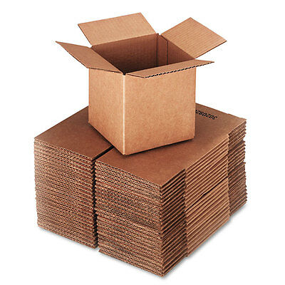 General Supply Brown Corrugated - Cubed Fixed-Depth Shipping Boxes 6l x 6w x 6h