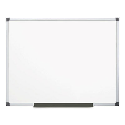 MasterVision Value Lacquered Steel Magnetic Dry Erase Board 48 x 72 White
