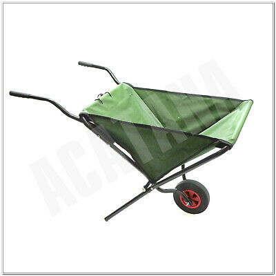 Garden Cart Wheelbarrow Tip Trailer Tipping Lightweight Heavy Duty One Wheel