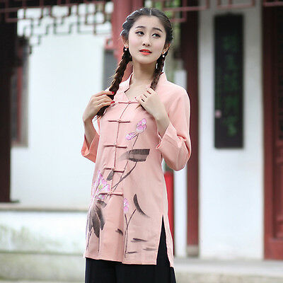 Brand New Arrival Chinese Traditional Women's Cotton Linen Jackets Coats M-3XL