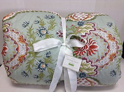 Pottery Barn Billie Damask Bed Quilt French Scroll Floral Comforter Cal King NEW