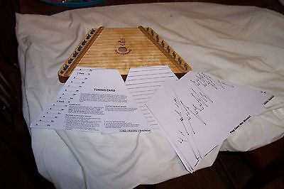 lap harp w/ playing cards