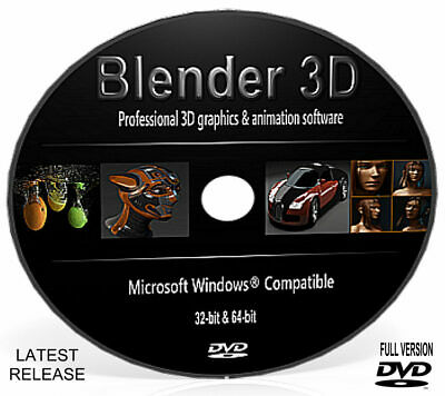 Blender 3D Professional Graphics Film Animation Studio Software DVD For Windows