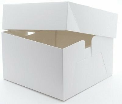 Pack of 10 x White 10 Inch Cake Wedding Birthday Cake Boxes