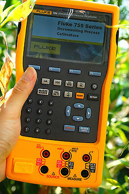 Fluke 754 HART Transmitter Current Pressure RTD Documenting Process Calibrator