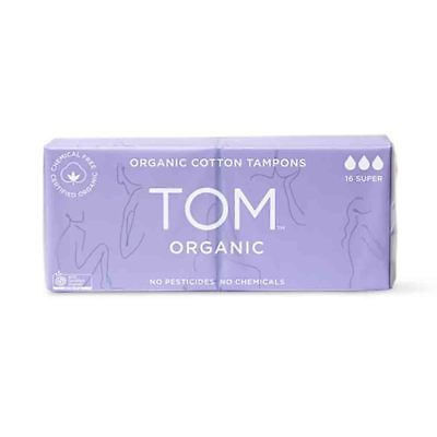 TOM Organic Super Tampons (14 pack) | BRAND NEW