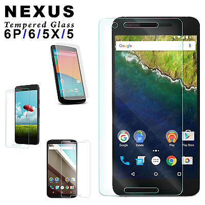 Tempered Glass Guard Scratch Resist Screen Protector For Google NEXUS 6P 6 5X 5