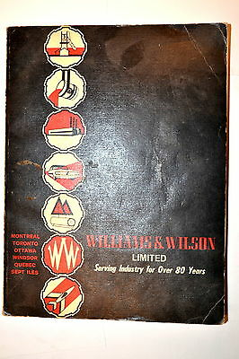 WILLIAMS & WILSON CATALOG Hardware Machinists Industrial Supply 80th ed. #RB154
