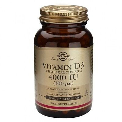 Solgar Vitamin D3 4000 IU (100ug) Vegetable Capsules 120
