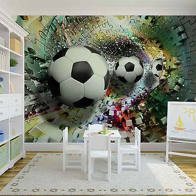 Colorful Puzzle Football WALL MURAL PHOTO WALLPAPER (3381DK)