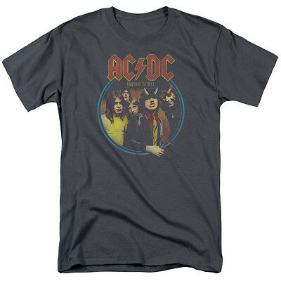 ACDC HIGHWAY TO HELL Licensed Adult Men's Graphic Band Tee Shirt SM-5XL