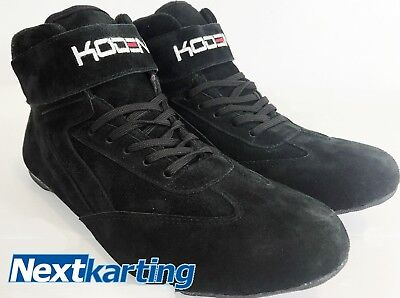 Koden M54 Kart Motorsport Racing Shoes Black Mid Length Boots - Size 4 -