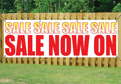 SALE NOW ON SHOP BANNER OUTDOOR POSTER waterproof PVC with Eyelets