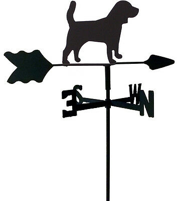 Beagle Garden Style Weathervane Black Wrought Iron Look Made In Usa Tls1061In