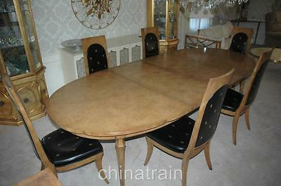 Antique Vintage Mid-Century Italian European Style Table 6 Chairs & Sideboard