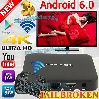 TX3 Pro Smart TV Box S905X Android 6.0 Quad Core Preloaded+Keyboard