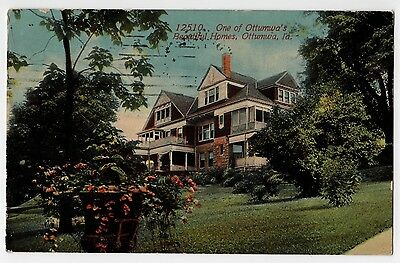 One of Ottumwa Iowa Beautiful Homes Postcard IA 1913 Wapello County