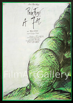 """PINK FLOYD THE WALL Rare unfolded 23""""x33"""" Hungarian movie poster Filmartgallery"""