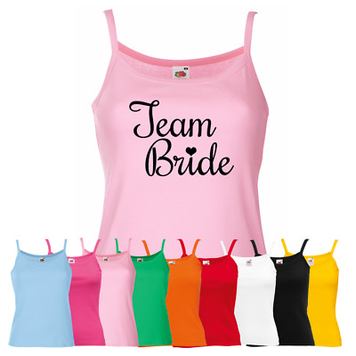 Ladies Team Bride Vest - Hen Night Party Custom Text Night Out Strap Top Gift
