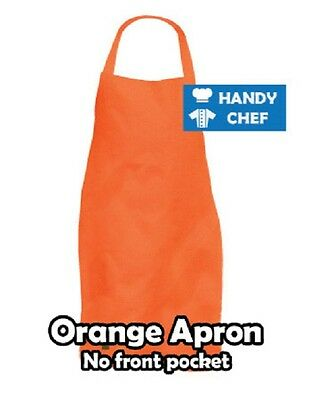 Chef Bib Apron Orange,,..see handychef store for quality chef jackets,pant