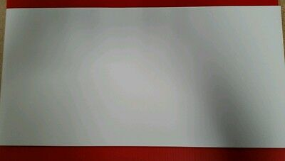 "Lot of 5  24"" X 12"" Printable Magnetic Sheeting - Matte White-.030 Sign Blanks"