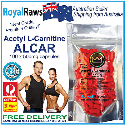 Acetyl L Carnitine 100 x 500mg capsules loss alcar burner supplement weight fat