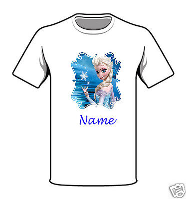 Personalised Children's T-Shirt - Frozen - Named - Style 13