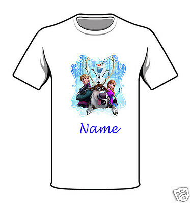 Personalised Children's T-Shirt - Frozen - Named - Style 14