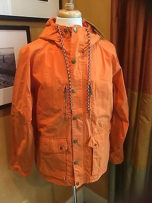 Barbour Casual Helmswater Orange Cotton Jacket Medium Large MSRP$399 NWT