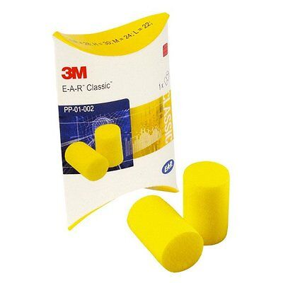 3M EAR Classic Foam Ear Plugs individual packs snr 28dB - 50, 100 or 250 pairs