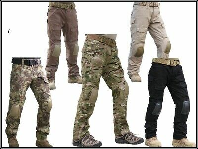 Tactical Bdu Pants Army Combat Trousers Airsoft Pants Gen2 With Knee Pads Colors