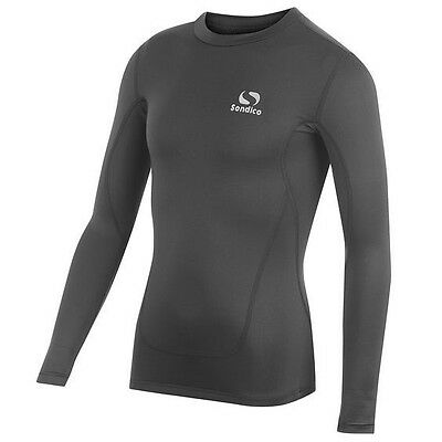 Brand New Sondico Black Kids Youth Base Layer Core Long Sleeve Top Sport