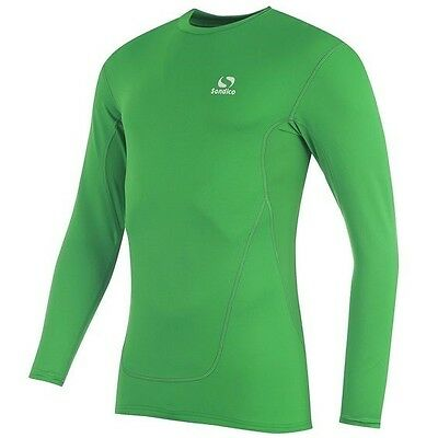 Brand New Sondico Green Kids Youth Base Layer Core Long Sleeve Top Sport