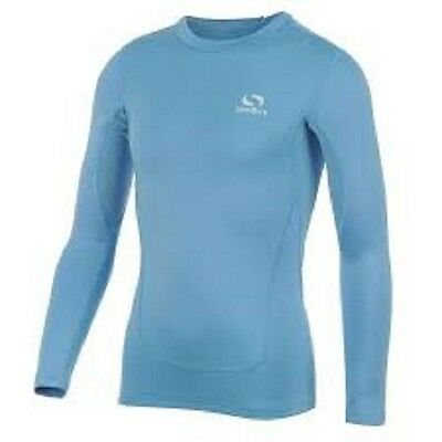 Brand New Sondico Light Blue Kids Youth Base Layer Core Long Sleeve Top Sport