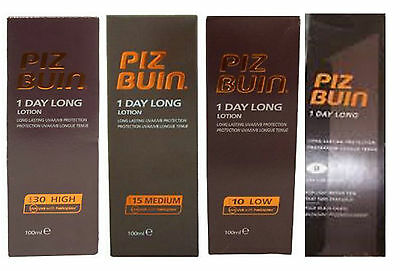 Any 2 PIZ BUIN 1 DAY LONG SPF 30 15 or 10 100ml each TRAVEL SIZE Hand Luggage