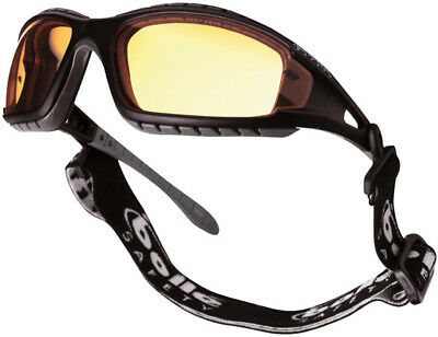 Bolle Tracker Sports Safety Glasses Goggles Yellow Lens with FREE microfibre bag