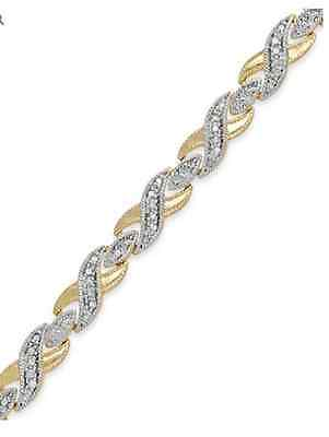 NEW Victoria Townsend Diamond XO Bracelet 18k Gold over Silver-Plated1/2 ct tw