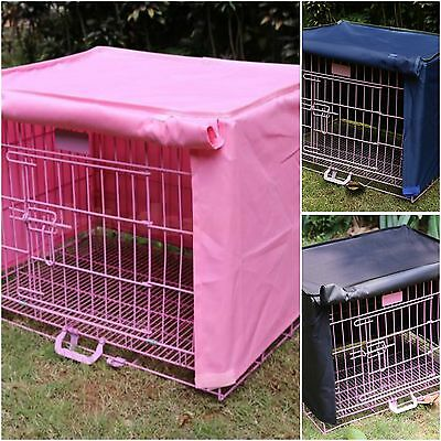 Dog Puppy Pet Crate Cage Cover Waterproof Windproof S M L and XL Pink Navy Black