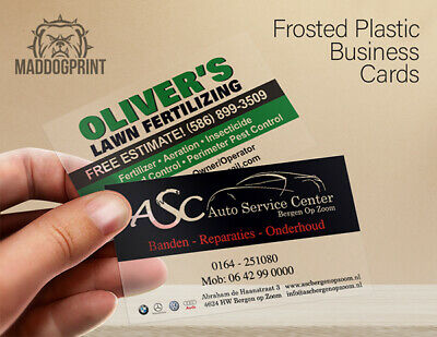 500 Full Color Frosted Plastic Business Cards - FREE Design Service & Shipping!