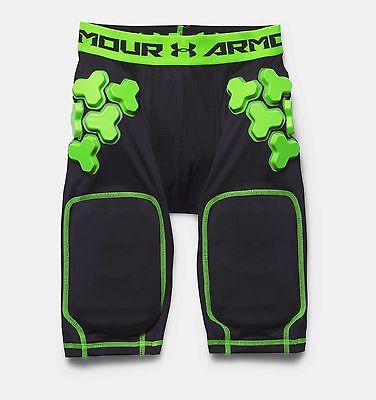 Under Armour Boy's Gameday Armour 5-Pad Youth Football Fitted Shorts - NWT $55