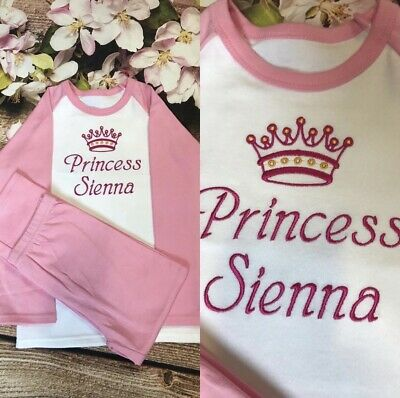 Personalised Embroidered 100% Cotton Pyjamas,  Christmas Present/Gift