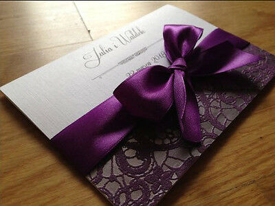 Personalised Wedding Day Evening Invitations Invites + Envelopes === lux ===