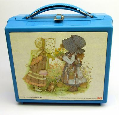 1981 Aladdin HOLLY HOBBIE blue plastic lunchbox rare collectible lunch box
