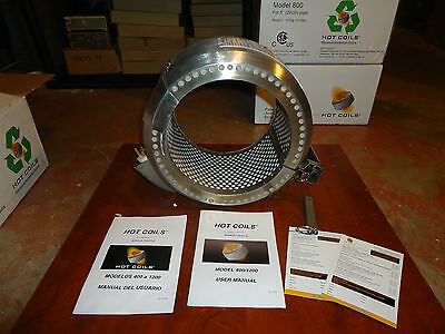 "Pre Weld Heating 8"" Pipe Coil Heater 120Vac, 600,f Max. Hot Coils Model#800, New"