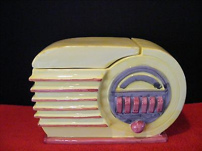 Collectible 1950s Yellow Radio Cookie Jar Corning Factory Store  MCID 1999