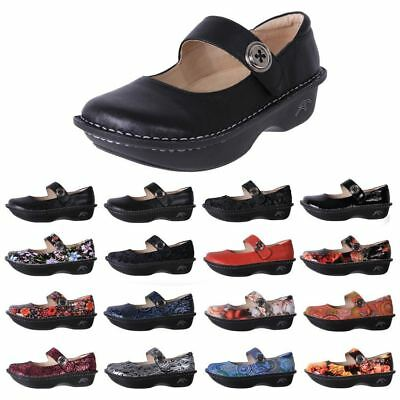 New Sand Dune Women's Leather Comfort Anti-Slip Work Nursing Shoe Bailey Cheap