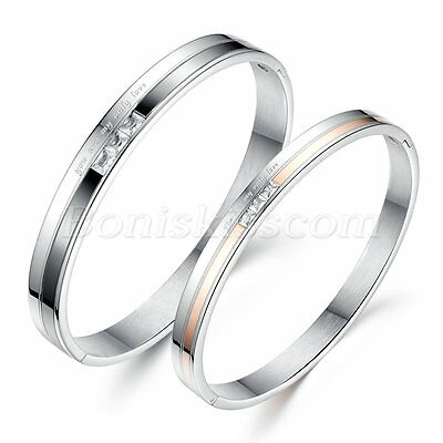 You are my only Love Stainless Steel Couples Romatic Cuff Bracelet Bangle Gift